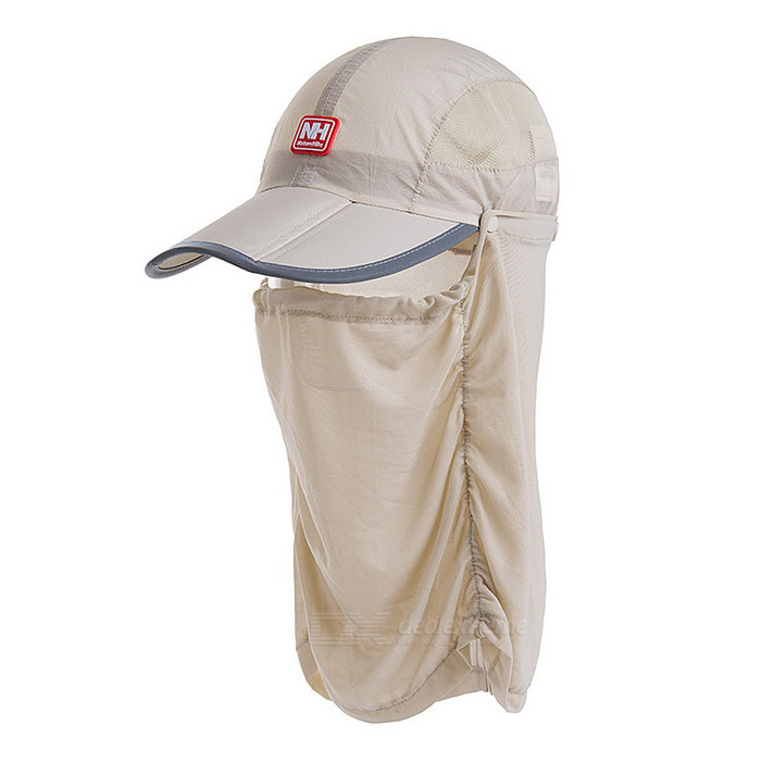 NatureHike Breathable Removable Fishing Nylon Peaked Cap Hat - Khaki