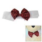 Cotton Pet Bow-Tie for Small / Middle Size Cats / Dogs - Black + White + Multicolor (Size M)