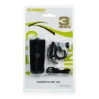 Leadbike USB Cold White 2-modus LED Bike Light Headlamp - Svart