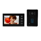 "7 ""Farb-TFT-LCD-Video-Türsprech Kit w / Remote Control sperren / Touchpad / IR-Nachtsicht - Schwarz"