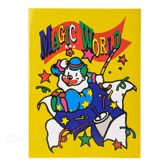 Magic Color Changing Cartoon Characters Book - Yellow + Multicolored