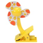 Summer Portable Mini Safety Clip-on Fan for Baby Prams Strollers Cots - Yellow