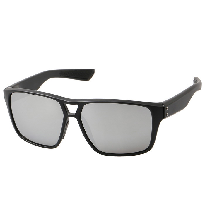 Retro Fashionable UV400 Protection PC Outdoor Sunglasses - Black + Mercury Color