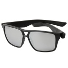 Colorful Retro UV400 Protection PC Sunglasses - Black + Mercury Color