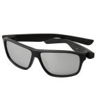 Retro UV400 Protection PC Sports Sunglasses - Black + Silver