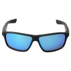 Retro UV400 Protection PC Sports Sunglasses - Black + Blue Retro