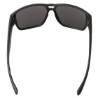 Colorful Retro UV400 Protection PC Sunglasses - Black + Blue REVO