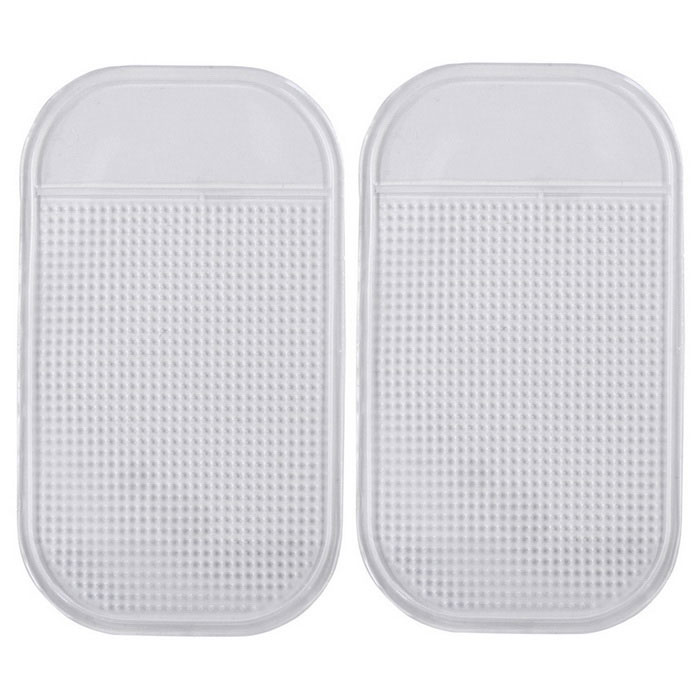 Silicone Car Anti-Slip Mat Pad for Phone, GPS - Transparent (2PCS)Anti-slip Mats<br>Form ColorTransparentModelN/AMaterialSiliconeQuantity2 DX.PCM.Model.AttributeModel.UnitShade Of ColorTransparentDimension15 x 9 DX.PCM.Model.AttributeModel.UnitPacking List2 x Anti-slip mats<br>