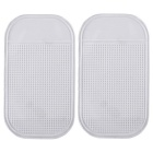 Silicone Car Anti-Slip Mat Pad for Phone, GPS & More - Transparent (2pcs)