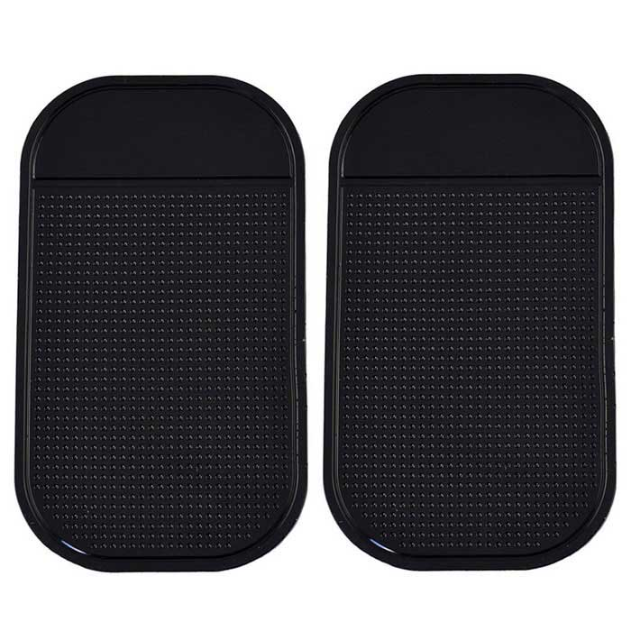 Silicone Car Anti-Slip Mat Pad for Phone, GPS &amp; More - Black (Pair)Anti-slip Mats<br>Form ColorBlackModelN/AMaterialSiliconeQuantity2 DX.PCM.Model.AttributeModel.UnitShade Of ColorBlackDimension15 x 9 DX.PCM.Model.AttributeModel.UnitPacking List2 x Anti-slip mats<br>