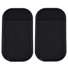 Silicone Car Anti-Slip Mat Pad for Phone, GPS & More - Black (Pair)
