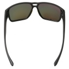 Colorful Retro UV400 Protection PC Sunglasses - Black + Red REVO