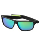 Retro UV400 Protection PC Sports Sunglasses - Black + Green REVO