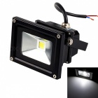 JIAWEN Waterproof 10W LED Floodlight White Light 6500K 800lm - Black (DC 12V)