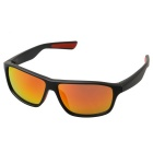 Fashionable Retro UV400 Protection PC Sports Sunglasses - Black + Red Retro