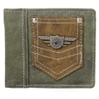 Stylish Canvas Fold-up Wallet for Men - Coffee