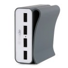 LOCA 4-USB Power Adapter for IPHONE6 / Tablet PC - Dark Grey (EU Plug)