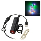 Water Resistant Rechargeable 2-Mode 18-LED Colorful Light Bike Wheel Rim String Light (1 x 18650)