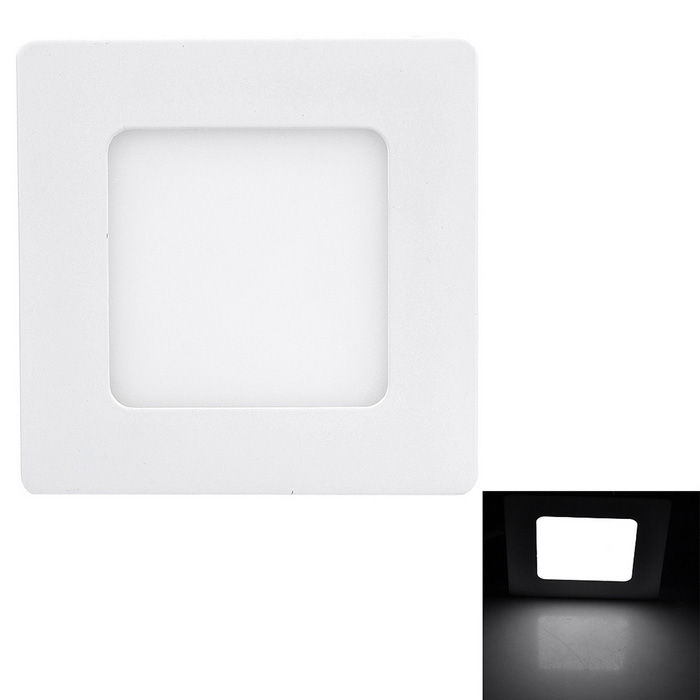 Marsing 6W LED Square Ceiling Panel Lamp White 600lm 30-SMD - White