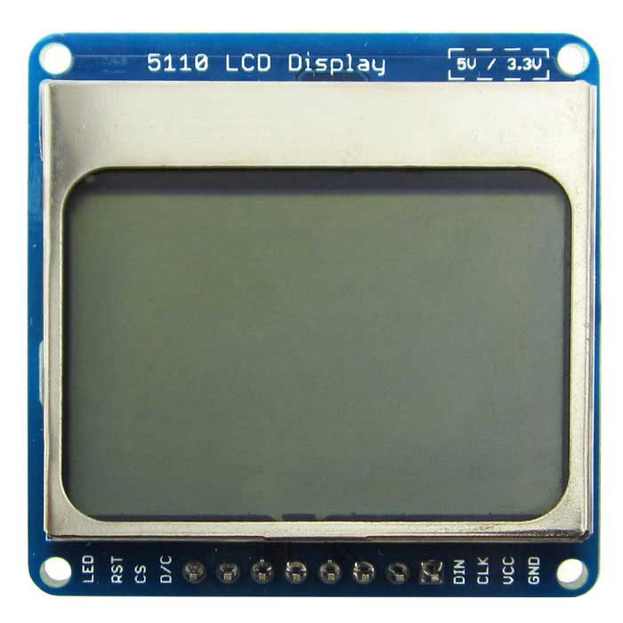 "1.6"" Nokia 5110 LCD Display Module w/ Blue Backlit for Arduino"