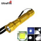 Ultrafire WF-501B 8-Mode 800lm XM-L T6 White Light LED Memory Flashlight Torch - Golden (1 x 18650)
