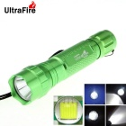 UltraFire WF-501B 8-Mode 800lm XM-L T6 White Light LED Memory Flashlight Torch - Green (1 x 18650)