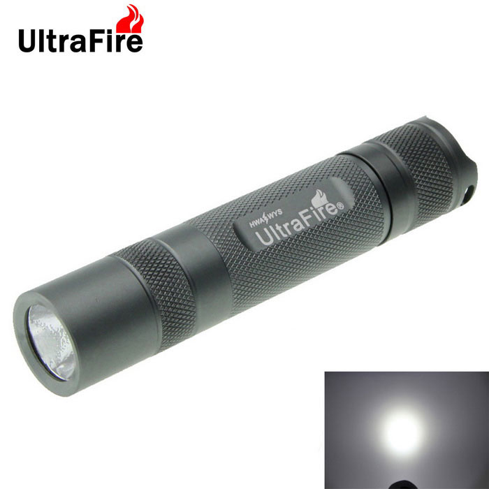 Ultrafire 8-Mode XM-L2 U2 Cold White LED Flashlight - Grey