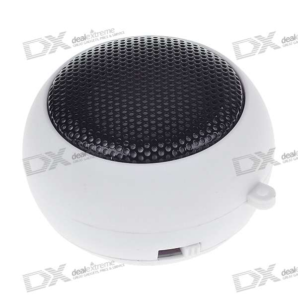 Ultra Mini USB Rechargeable Portable Speaker - White (3.5mm/DC 5V)