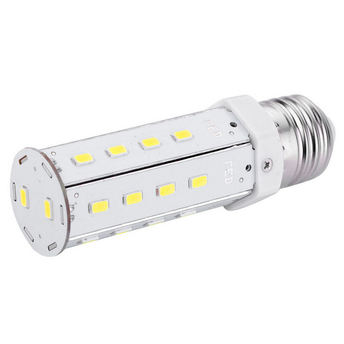 E27 9W LED Corn Bulb Lamp Cool White 800lm 26-SMD 5630 (AC 100~240V)