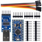 Pro Mini ATmega328P 5V 16MHz Development Board + CH340G USB to TTL Programmer Module for Arduino