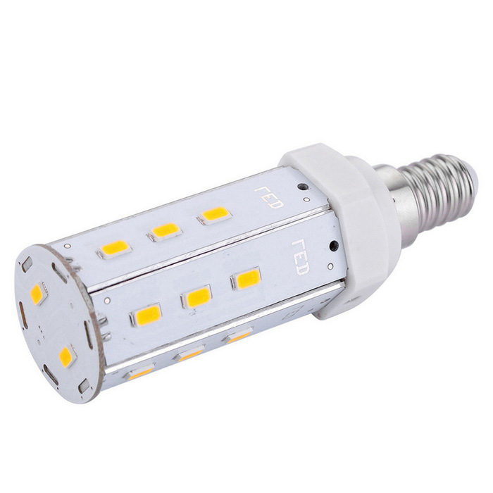 E14 7W LED Corn Light Bulb Warm White Light 20-5630 SMD 620lm - White