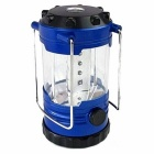12-LED 500lm 1-Mode Cool White Outdoor Camping Lamp Lantern w/ Compass - Blue + Black (3 x AA)