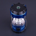 12-LED 500lm 1-Mode Cold White Camping Lamp Lantern w/ Compass - Blue