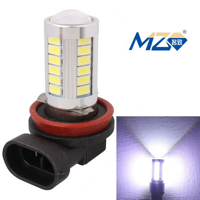 MZ H8 16.5W White 33-LED Car Front Fog Lamp 990lm 6500K (12~24V)