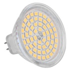 MR16 GU5.3 3.5W luz del bulbo del punto del LED blanco caliente 60-SMD 300lm 3000K