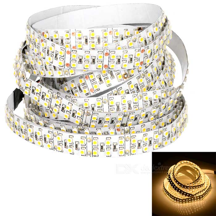 Double Row 96W 3528 SMD LED Light Strip Warm White 3500K 3600lm (DC 12V / 5M)