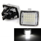 QooK JHBK040001 1.44W Car License Plate LED Light White 6500K 120lm 18-SMD 3528 for BENZ W221 (2PCS)