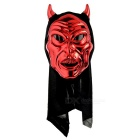 Devil w/ Horn Style Face Mask w/ Polyester Cover for Party / Halloween / Cosplay - Red + Black