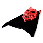 Devil w/ Horn Style Face Mask w/ Polyester Cover - Red + Black
