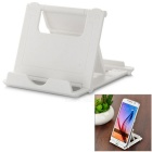 UniversalABSAngle-AdjustableFoldStand+Anti-SlipRubberMatforCellphones/TabletPC-White