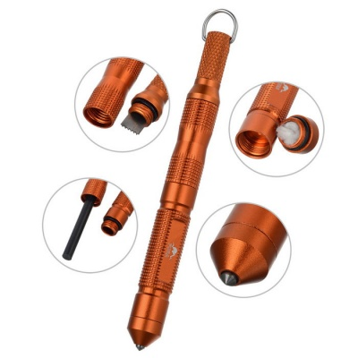 FURA Survival Camping Magnesium Flintstone Fire Starter - Orange