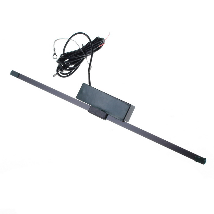 Car Full Frequency FM Signal Amplification Electronic Antenna - Black