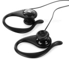 Cwxuan Wired 3,5 mm Plug Ear-Hook Sports Hodetelefoner Hodetelefoner - Svart