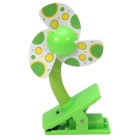 Summer Portable Mini Safety Clip-on Fan for Baby Prams Strollers Cots - Grass Green
