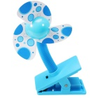Summer Portable Mini Safety Clip-on Fan for Baby Prams Strollers Cots - Blue