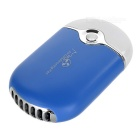 USB 2.0 Handheld Mini Air Conditioning Fan - Blue + White