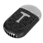 USB 2.0 Handheld Mini Air Conditioning Fan - Black + White
