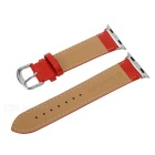 Top Cow Leather Watch Band w/ Attachments for APPLE WATCH 38mm - Red