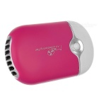USB 2.0 Rechargeable Handheld Mini Air Conditioning Fan - Deep Pink + White