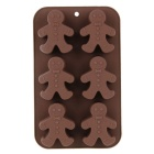 Christmas Ginger Bread Style Sweet Cookies Cake Pudding Molds DIY Baking Tools - Brown